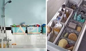 25 astuces de rangements pour la salle de bains With idees rangement salle de bain