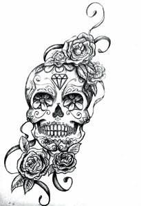 Tete De Mort Fleur : surprenant tatouage tete de mort signification tatouage sphinx tete de mort signification ~ Mglfilm.com Idées de Décoration