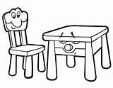 Chair Coloring Coloringtop sketch template