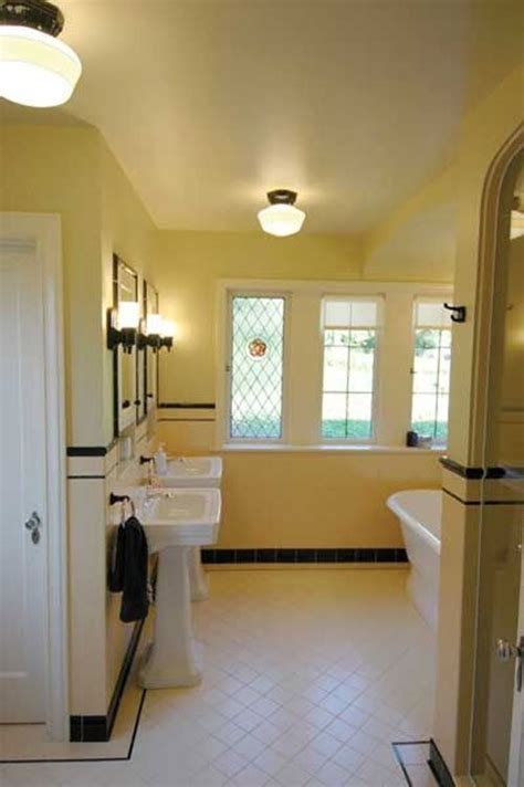Modern Yellow Bathroom Decor by 33 Vintage Yellow Bathroom Tile Ideas And Pictures