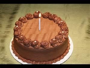 Chocolate ganache cake decoration - YouTube