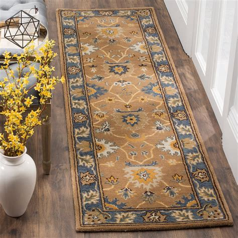 safavieh collection safavieh heritage collection camel blue runner rug 2 3
