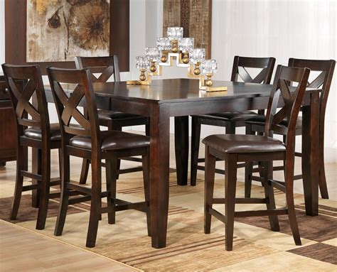 bench style table and chairs dining room pub style dining set with square table made