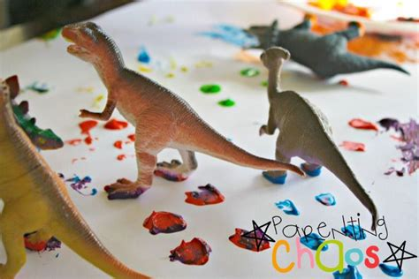 dinosaur stomp painting 278 | activities for preschoolers dinosaur stomp painting