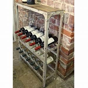 Antique White Wine Rack 24 Bottle Drinkstuff