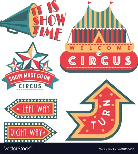 Circus Signs Template by Circus Vintage Signboard Labels Banner Royalty Free Vector