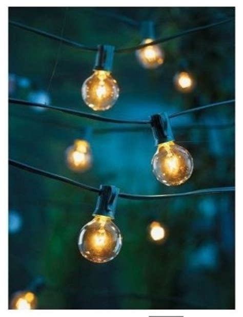 clear globe string lights set of 25 g40 bulbs indoor