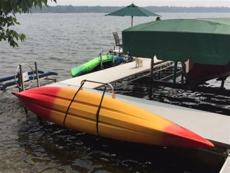 kayak storage rack docksider kayak rack enter your kayak from the dock