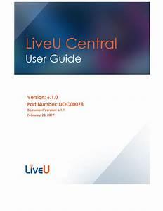 Liveu Central User Guide