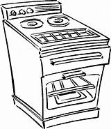 Oven Stove Coloring Pages Clipart Drawing Clip Tow Truck Line Microwave Template Household Sketch Gloves Templates Getdrawings Library Pdf sketch template