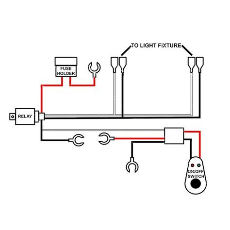 3 Wire Remote Wiring Diagram Led Light by Details About Led Work Light Wiring Harness 40a Bar Remote