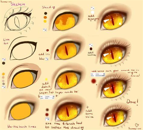 step  step cat eye tutorial  saviroosje  deviantart