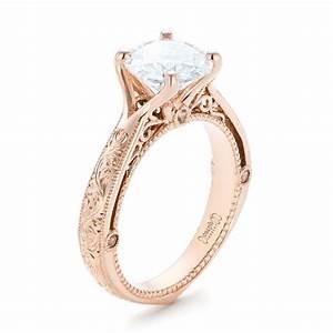 Custom Diamond And Rose Gold Engagement Ring 102777