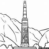 Minaret Jam Afghanistan Tower Coloring Pages Sketch Template sketch template