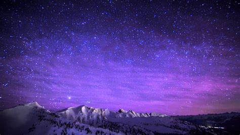 Night Time Lapse From The Top Of Kicking Horse Mountain