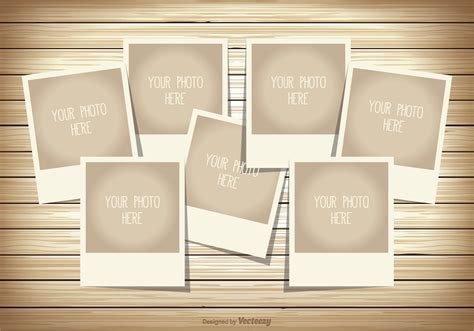 4 Picture Collage Template by Photo Collage Template Free Vector Stock