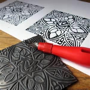 wedding invitations printing linocut printmaking daff workshops