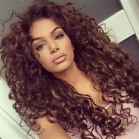 ideas  brown curly hair  pinterest ombre