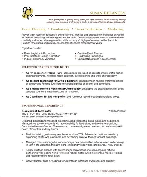 Event Planning Resume Exles by Writing 10 An Exceptional Resume As An Event Planner Writing Resume Sle Writing Resume Sle