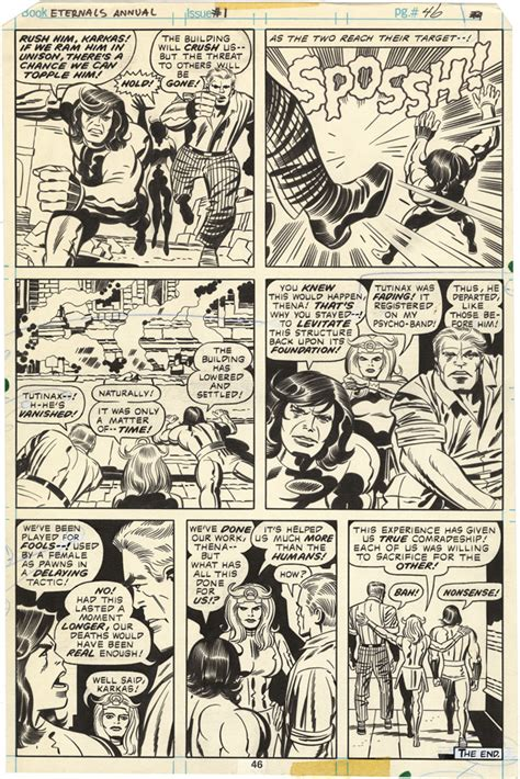 Gallery of Comic Art by Jack Kirby : The Eternals Annual ...