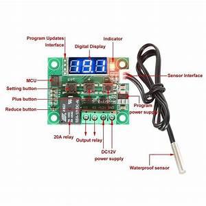 W1209 Blue Led Digital Temperature Controller Board Micro