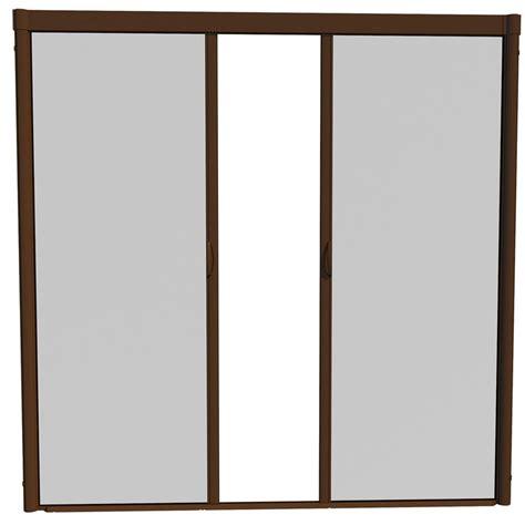 shop larson escape brownstone aluminum retractable curtain