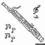 Bassoon Coloring Instruments Clipart Fagot Pages Musical Animated Drawing Music Instrument Oboe Woodwind Thecolor Tattoo Instrumentos Musica Collage Colorear sketch template