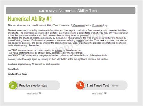 cut  numerical reasoning test practice jobtestprep
