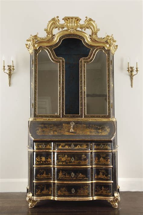 an baroque parcel gilt black and gilt japanned