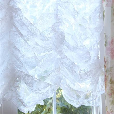 Modern Valances For Living Room by Damask Balloon Lace Curtain