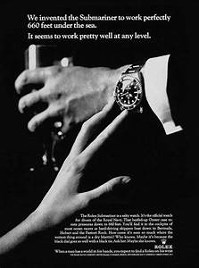 [Vintage Ad] Suggestive Rolex Submariner Ad From The 70s ...