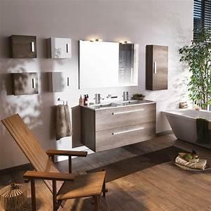 Meuble vasque woodstock for Meuble salle de bain brossette