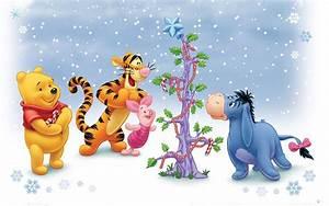 Cartoon Winnie The Pooh And Friends Winter Christmas Tree