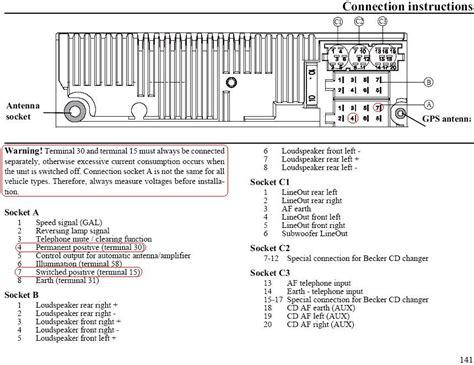 becker car radio stereo audio wiring diagram autoradio connector wire installation schematic