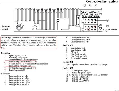Becker Car Radio Stereo Audio Wiring Diagram Autoradio