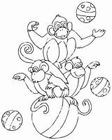 Circus Coloring Pages Children Easy Printable Ll Justcolor sketch template