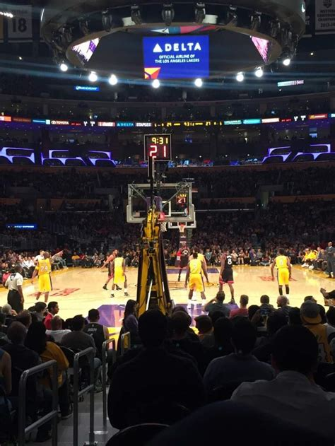 staples center section  row  seat  los angeles