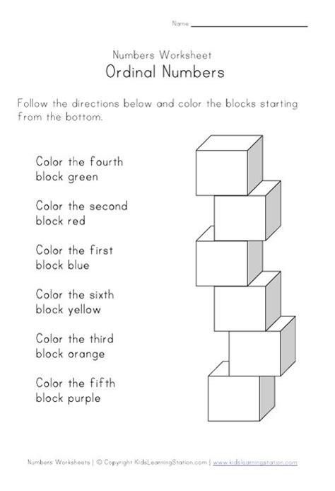 ordinal numbers ideas  pinterest cool