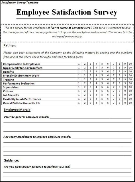 satisfaction survey template  likes survey template