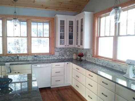 wood trim kitchen cabinets white kitchen cabinets with stained trim kitchens forum 1612