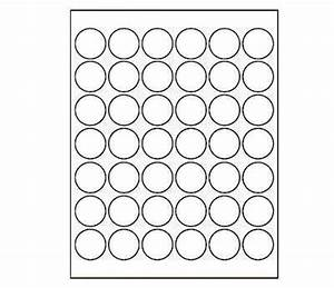 125 in round printable white dot labels for laser inkjet With 4 inch round printable labels