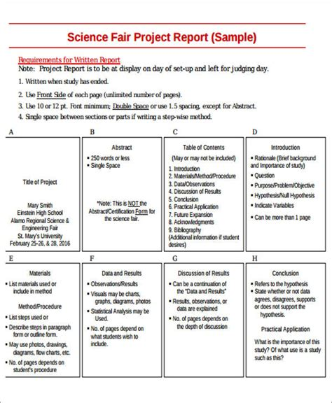 Sle Lava L Science Project Hypothesis by Science Fair Report Sle 28 Images Science Fair Report