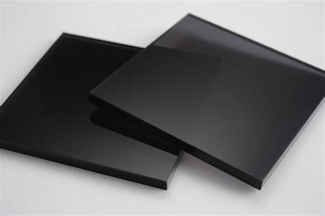 plexiglass mirror tinted black acrylic display design production