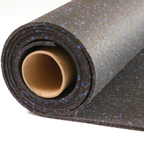 shop nutek 48 in 120 in black with 10 blue flecks lay rubber sheet at lowes com