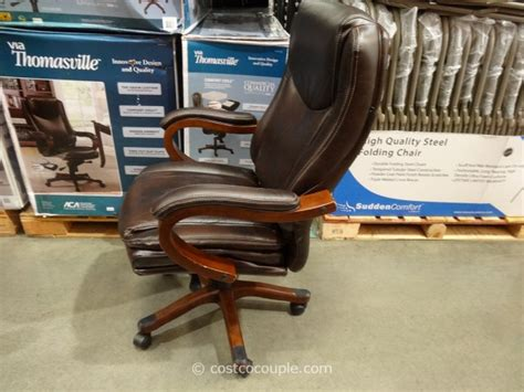 costco office chair true innovations executive brown leather chair 32847