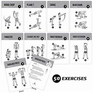 Exercise Cards Dumbbell Home Gym Strength Training Building Muscle Total Body Fitness Guide