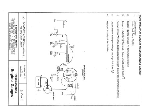 typical wiring diagram engine gauges engione gauges wiring trouble shooting cruisers