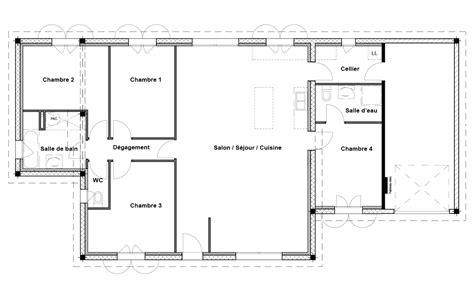 plan maison 120m2 3 chambres plan de maison 120m2 4 chambres