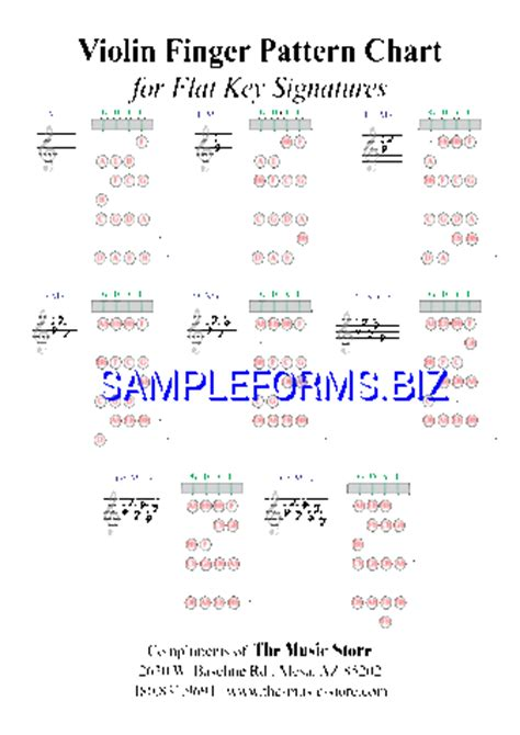 musical instrument chart templates samples forms