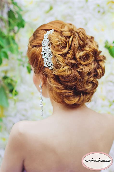 Curl Updo Hairstyles by Curly Updo Wedding Hairstyle Deer Pearl Flowers